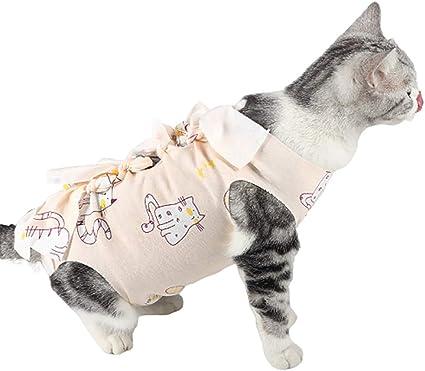 Cheaonglove Traje De Recuperación para Gatos Pijamas para ...