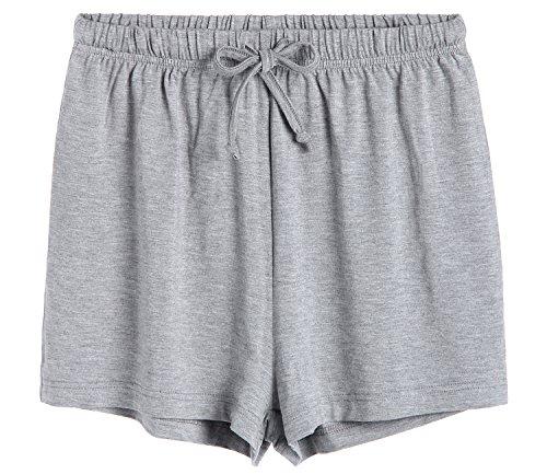 (Latuza Women's Boxer Shorts Pajama Bottoms M Light Gray )