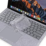 MOSISO Keyboard Cover Compatible Microsoft Surface Laptop 2 2018, Surface Laptop 2017, Surface Book 2/1 13.5 Inch and 15 Inch, Premium Ultra Thin TPU Transparent Skin, US Layout, Clear