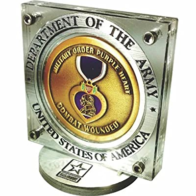 United States Army Challenge Coin Display with Stainless Steel Fasteners