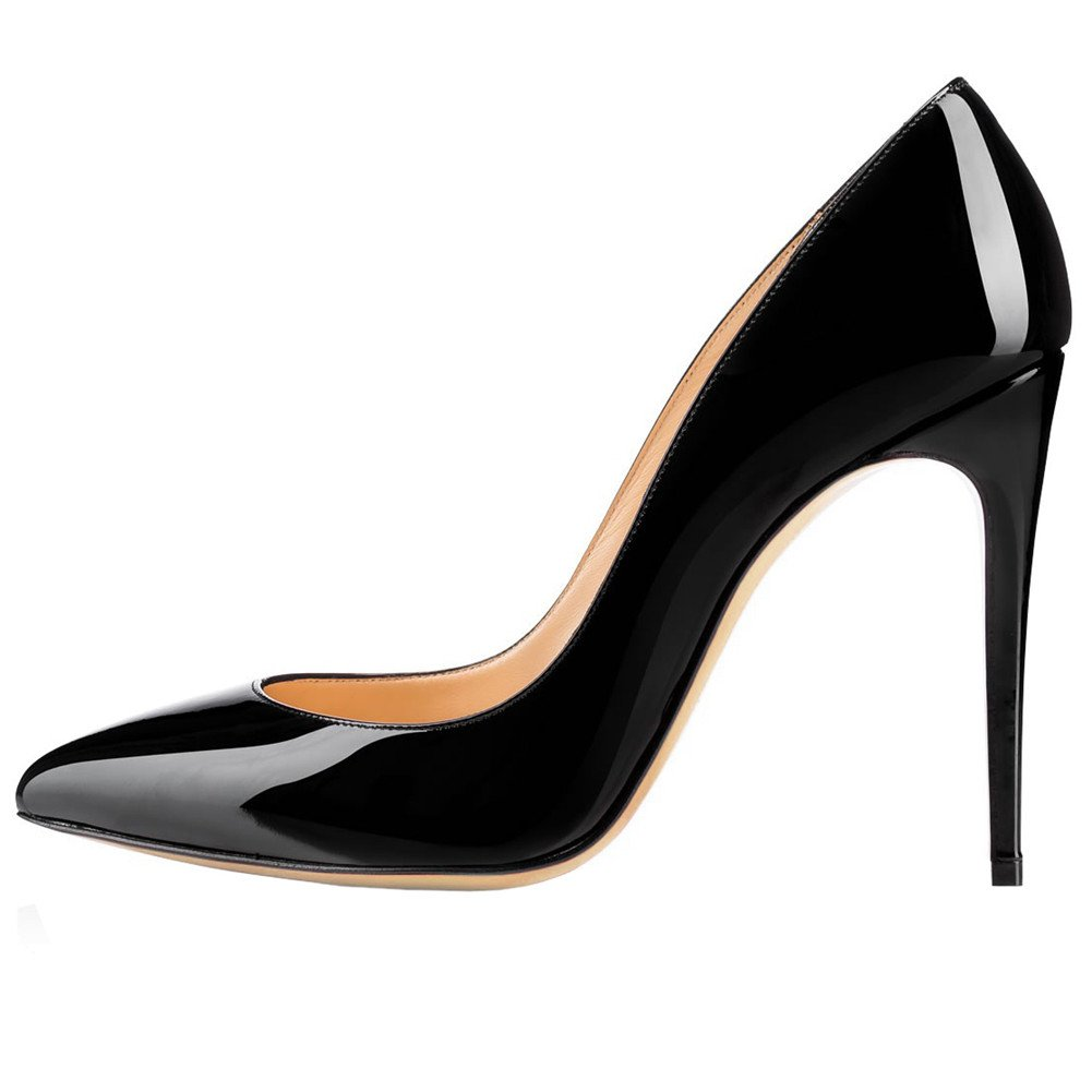 5c47bb6a086 MERUMOTE Women's Middle Thin Heel Stiletto Pointed Toe Dress Party ...