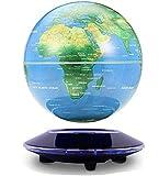 特大8 Inch 磁気浮上 地球儀 浮遊・回転型の地球儀 球体はLEDライト付き 回転しながら光の色が変わるGLO08R80
