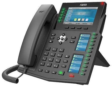 Fanvil X6U 6 line Ultra-Elegant Gigabit Triple Color Screen Phone,60 DSS