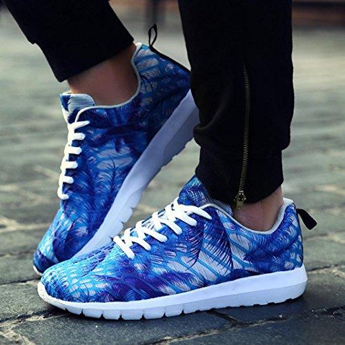 Turnschuhe Sportschuhe Blau Bunt FNKDOR Fitness Unisex Laufschuhe Sneaker xw4qxgAIY