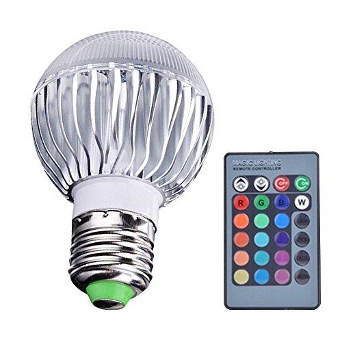 E2715W RGB Couleur Changeante LED lumière ampoule lampe 85–265V avec Télécommande