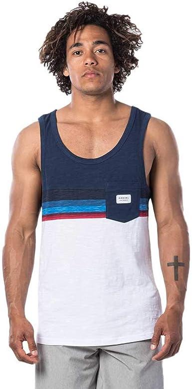 Rip Curl Rapture Tank - Camiseta sin mangas para hombre azul marino XS