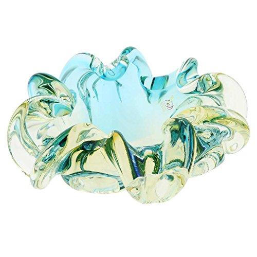 Bowl Glass Venetian - GlassOfVenice Murano Glass Sommerso Centerpiece Bowl - Amber Aqua