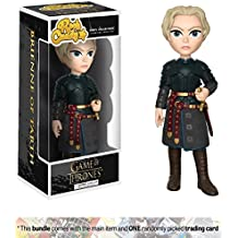 Brienne of Tarth: Funko Rock Candy x Game of Thrones Vinyl Figure + 1 Official Game of Thrones Trading Card Bundle (14951)
