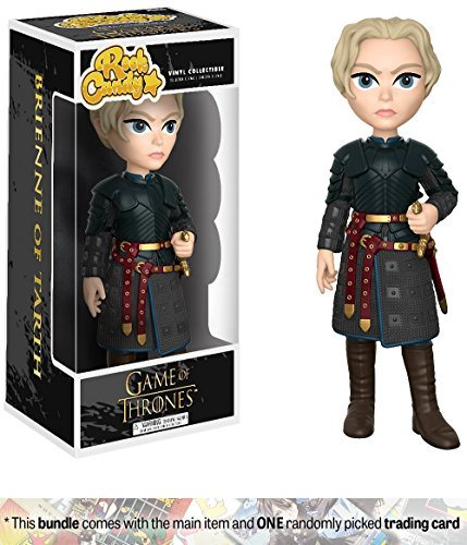 Brienne Of Tarth  Funko Rock Candy X Game Of Thrones Vinyl Figure   1 Official Game Of Thrones Trading Card Bundle  14951