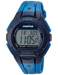 Timex Men's TW5M11400 Ironman Essential 10 Blue/Black Resin Strap Watch