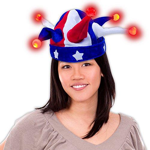 LED Patriotic Jester Hat -