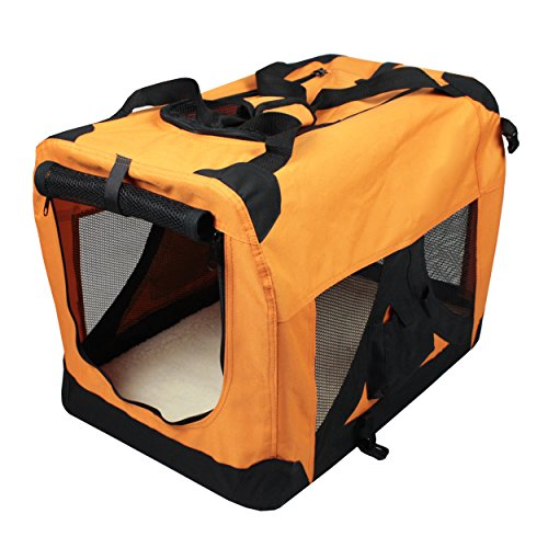Iconic Pet Versatile Pet Soft Crate with Fleece Mat, Coffee/Khaki, X-Large by Iconic Pet (Image #2)