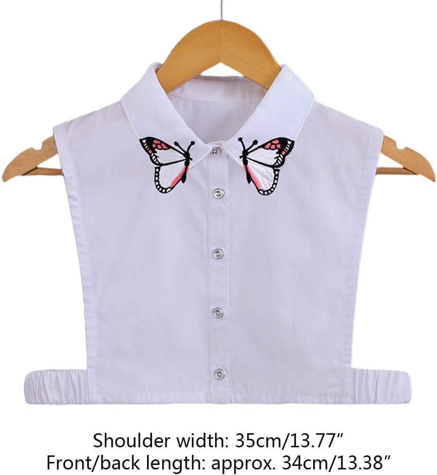 Blusa falsa con cuello falso, cuello falso, cuello falso, para mujer, con solapa desmontable, media camisa: Amazon.es: Hogar