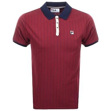 Fila Vintage BB1 Classic Stripe Polo Shirt Tibetan Red Peacoat White Small  Tibetan Red e44d892c5f1f