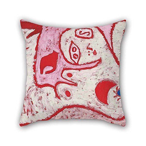 Brown Needlepoint Paisley (18 X 18 Inches / 45 By 45 Cm Oil Painting Paul Klee - A Woman For Gods Throw Pillow Case 2 Sides Is Fit For Deck Chair Indoor Family Pub Lover Dance Room)