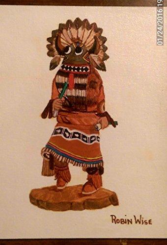 Broad Face , Big Head Hopi Indian Kachina - Face Kachina
