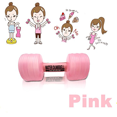 Watered Dumbbells - Arbor Home Premium Plastic Water-filled Dumbbells For Sports Exercise Weightlifting Portable Adjustable (Pink / 2 Pcs)
