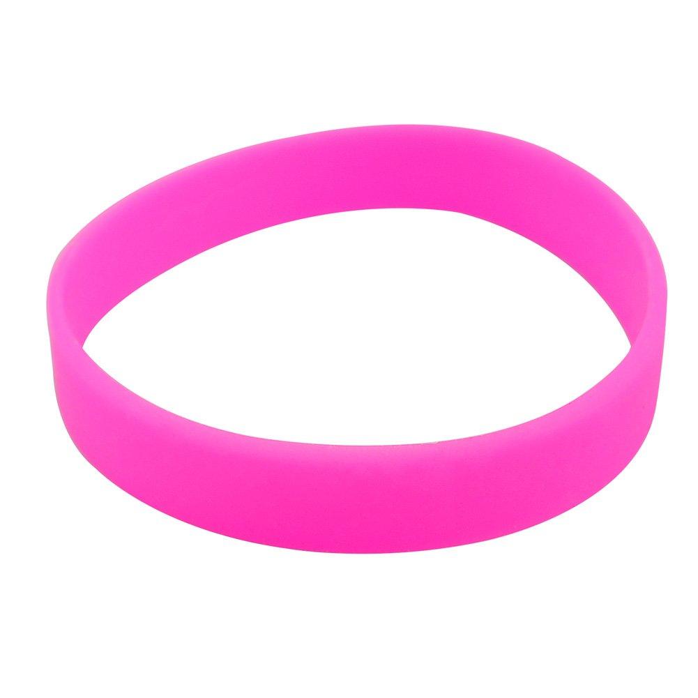 Amazon.com : M-online Silicone Bracelets Blank Adult Rubber ...
