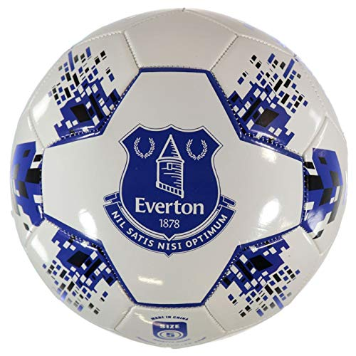 Team Everton FC Velocity Football White/Blue Soccer Ball Size 5