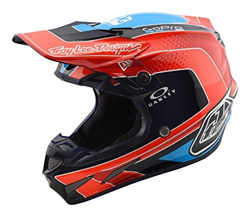 2018 Troy Lee Designs SE4 Carbon Squadra Team Helmet-Orange-S