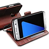 For SAMSUNG GALAXY S3 MINI -Genuine Real Rich Leather Stand Wallet Flip Case Cover / Quality Slip Pouch / Soft Phone Bag (Specially Manufactured - Premium Quality) Antique Leather Case ( Brown )