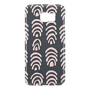 Loud Universe Samsung Galaxy S6 3D Wrap Around Confetti Pattern Print Cover - Pink/Black