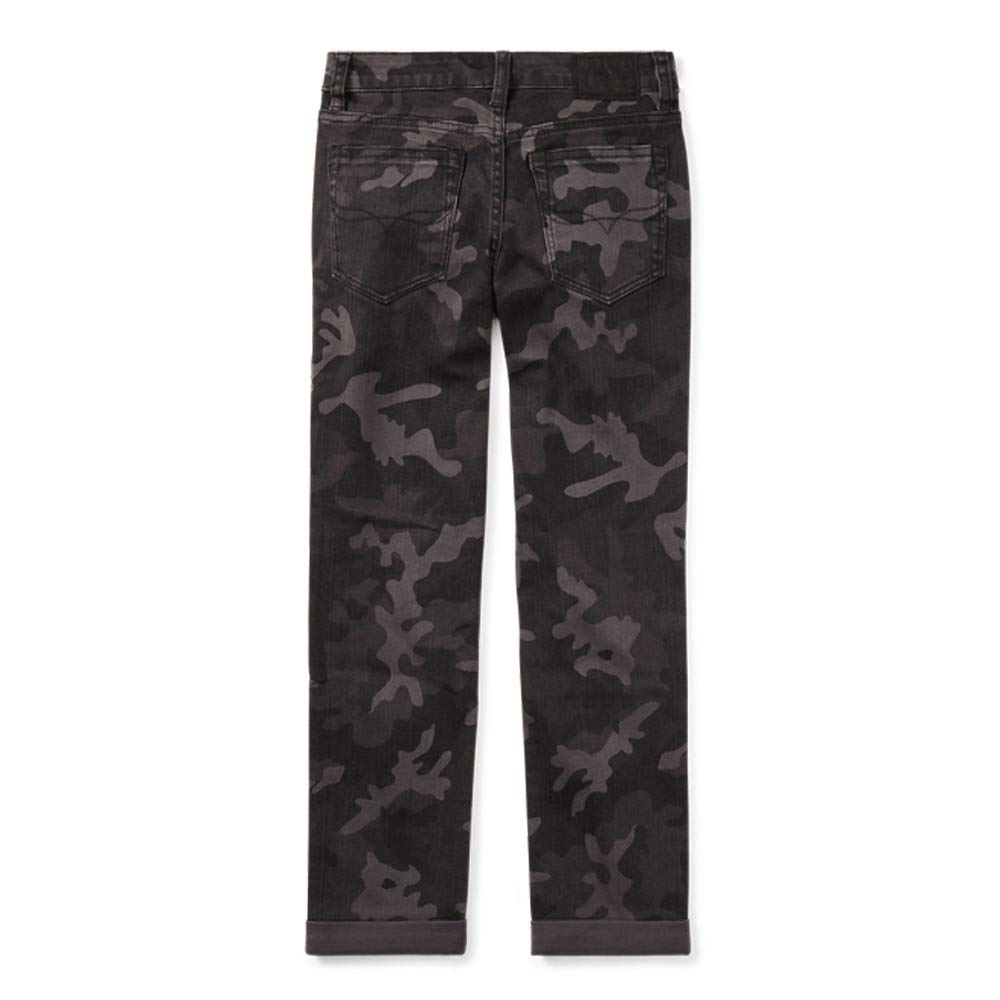 RALPH LAUREN Polo Boys Eldridge Camo Skinny Stretch Jeans in Charcoal