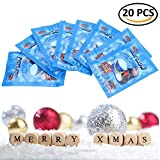 BraveWind 20 Packs Artificial Snow Powder Magic Instant Snow Simulation Snow Absorbent Polymer Fluffy Snow Christmas Wedding Decor Prop