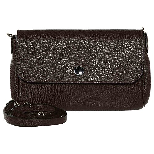 Bag Body SILVER Leather In Cross OXBLOOD Ruby Reversible Coach nRIwUxq08I