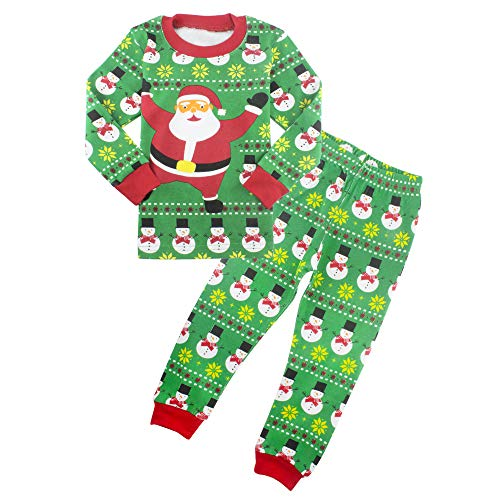 ZFBOZS 3T Christmas Pajamas for Boys Girls Santa