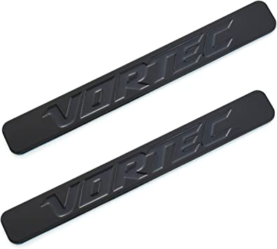 2pcs Vortec Emblems Badge 3D Replacement for Chevrolet 2500hd GMC Sierra Silverado Gm Truck Liter Badge Black White