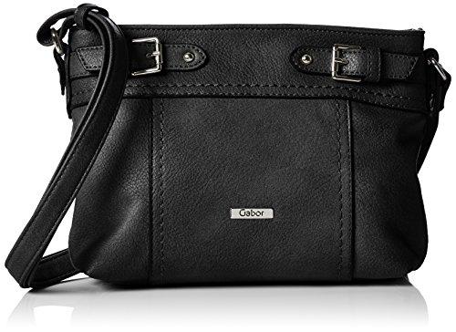 Gabor BRAVA 7469 Damen Schultertaschen 27x18x5 cm (B x H x T), Schwarz (schwarz Handtasche)