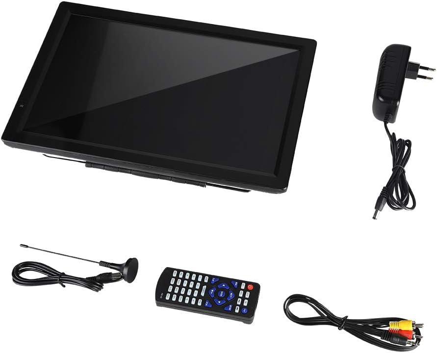 TV portátil Digital, 14 Pulgadas DVB-T/T2 1080P HD Soporte de televisión Digital para Coche para HDMI/USB/VGA/AV para Viajes/Cocina/baño, TV analógica ATV/UHF/VHF: Amazon.es: Electrónica