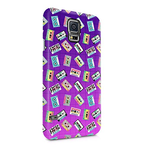 Colourful Retro Cassettes Pattern Hard Plastic Phone Case For Samsung Galaxy S5 (Cassette Case Galaxy S5)