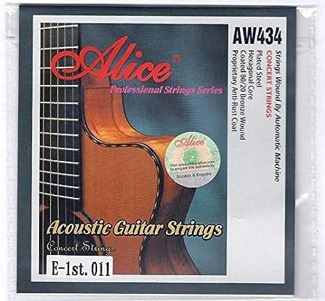 Alice 5X Individual Cuerdas Guitarra Acústica Cuerdas 11s Custom ...