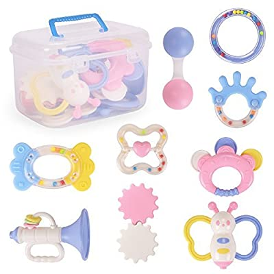NextX Baby Teething Toys 9 Different PACK Infant Training Toy Case by NextX that we recomend individually.