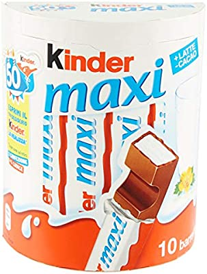 Kinder Maxi Chocolate con Leche 210 gr: Amazon.es: Alimentación y ...