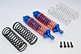 Traxxas Slash 4X4 Stampede 4X4 Rustler VXL Craniac Deegan 38 Fiesta Upgrade Parts Aluminum Rear Adjustable Spring Damper With Aluminum Ball Top & Ball Ends - 1Pr Set Blue