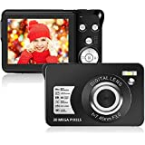 30 MP Digital Camera,Support 128GB SD Card(Not Included), 2.7 Inch 1080P HD Mini Camera Point and Shoot Students Digital…
