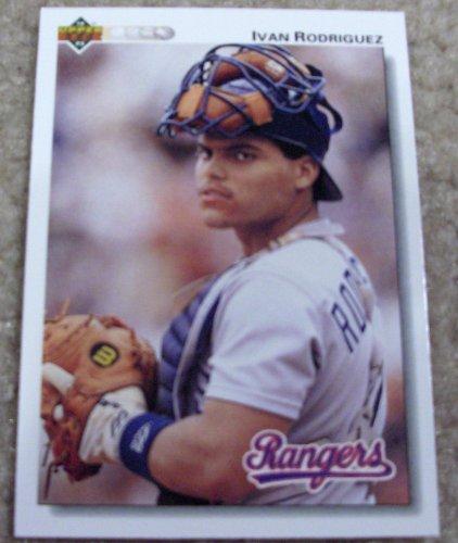 Amazoncom 1992 Upper Deck Ivan Rodriguez 245 Mlb Baseball Card