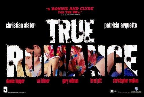 True Romance Poster C 27x40 Christian Slater Patricia Arquette Dennis Hopper