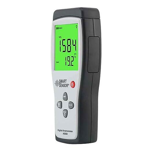 Lorsoul Sensor Inteligente AS836 portátil Anemómetro medidor de Flujo de Aire 45 m/s Relativa del Aire Temperatura del Aire probador de Velocidad de Viento ...