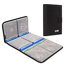 BUBM Portable PS4/ PS4 PRO/ Xbox One Game Disc Carrying Case Storage Bag Travel Case(Hold 6 Discs)-Black