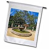 3dRose Boehm Photography Garden - Garden Fountain - 18 x 27 inch Garden Flag (fl_282354_2)