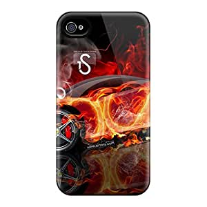 Durable Defender Case For Iphone 4/4s Tpu Cover(italia)