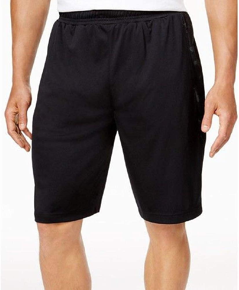Ideology Id Mens Camo-Inset Shorts Black Large