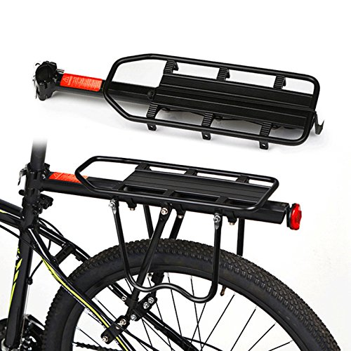 Prorac Tent Trailer (Tsptool Adjustable Bike Frame-Mounted for Heavier Top and Side Loads Bicycle Touring Carrier Rack Black)