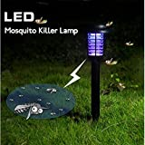 Svitlife 3pcs Solar Power Decorative LED Mosquito Killer Lamp Black
