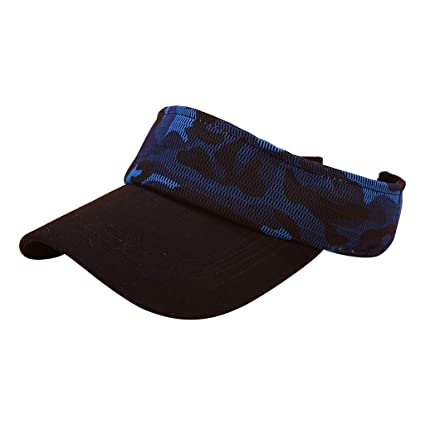 28d75ee1ca7f82 Image Unavailable. Image not available for. Color: Easytoy Athletics Hat  Outdoor Adjustable Cap Summer Sunscreen Visor Empty Top Cap
