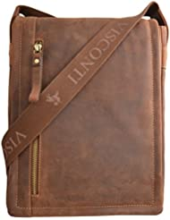 Visconti 16081 Distressed Oiled Leather Messenger Cross-Body Shoulder Bag